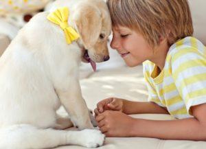 мальчик со щенком