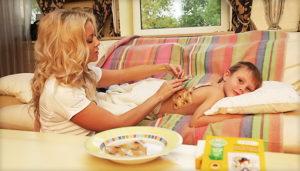 поставить горчичник ребенку