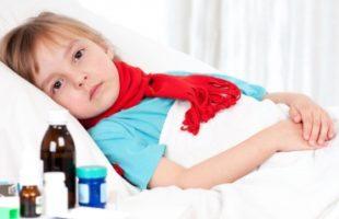 заболевшая девочка