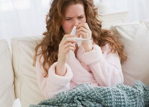 температура и заложен нос