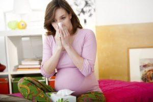 беременная с носовым платком