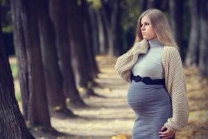 прогулка беременной женщины