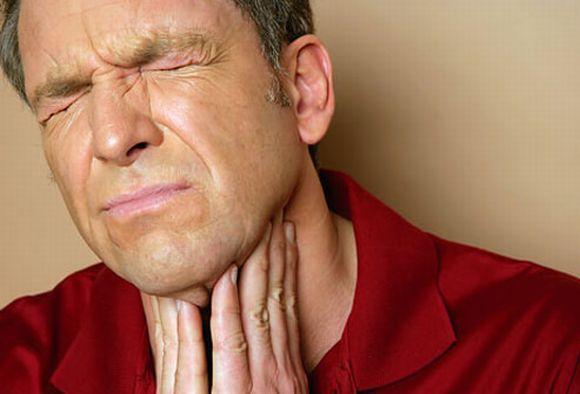 нестерпимая боль в горле