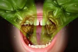 изо рта исходит неприятный гнилостный запах